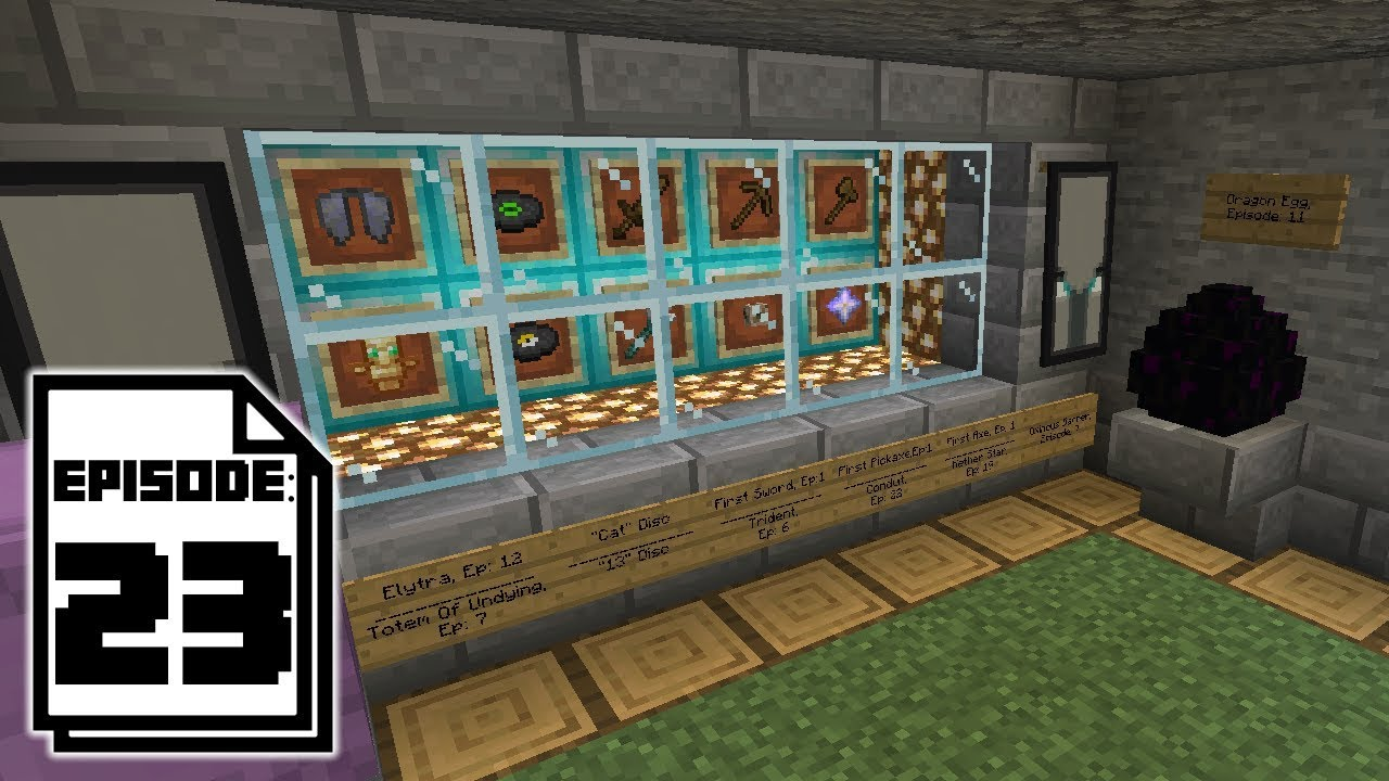 Trophy Room Minecraft Survival S3 23 Youtube