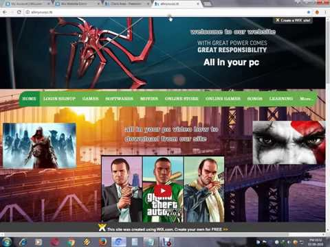 how to create website and fix domain name