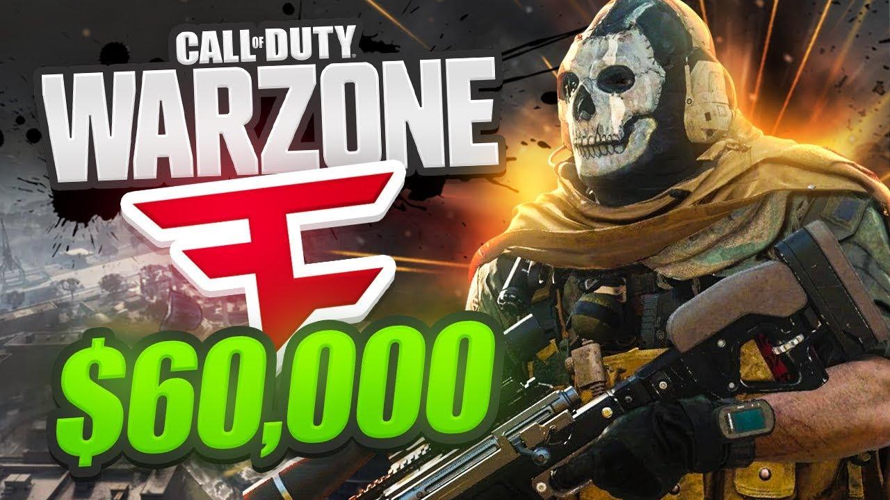 WE WON! - $60,000 FAZE WARZONE TOURNAMENT! - Week 1 (CoD Battle Royale)