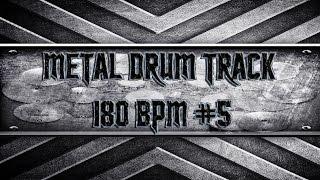 Children Of Bodom Style Metal Drum Track 180 BPM (HQ,HD)