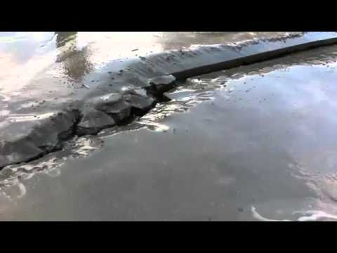 Japan Earthquake Liquefaction Video Awesome
