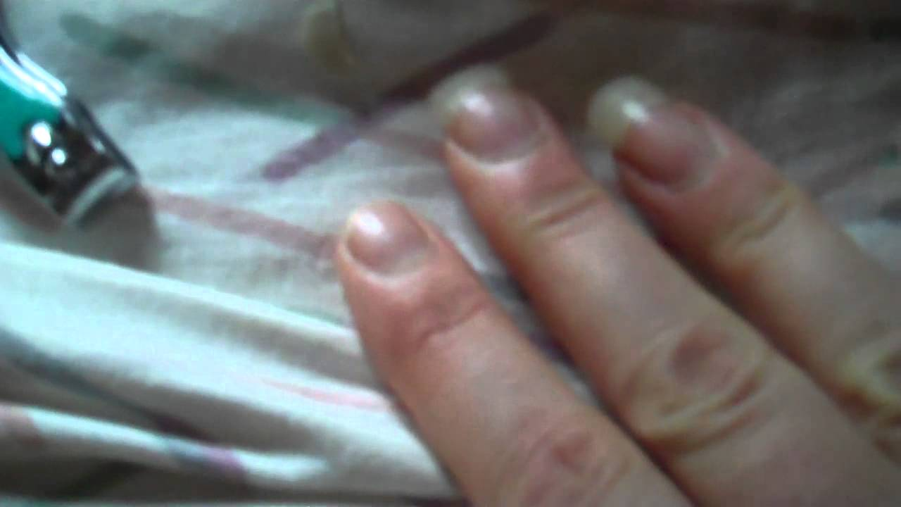 cut finger nail off - real finger nails - YouTube