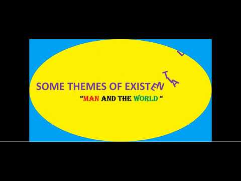 "SOME THEMES OF EXISTENTIALISM ""MAN AND THE WORLD"""