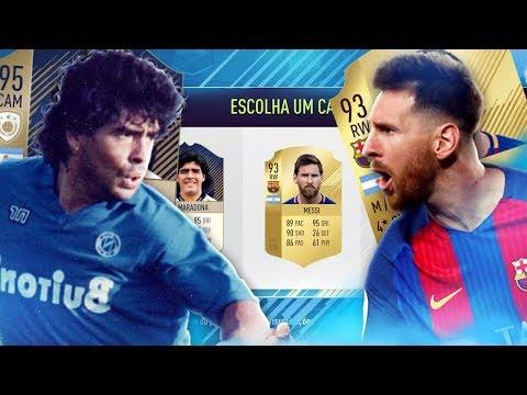 FIFA 18 FUT DRAFT - MESSI vs MARADONA!!!!! 😱😱😱