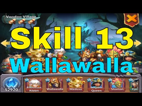 Castle Clash Skill 13 Wallawalla Upgrade And Gameplay