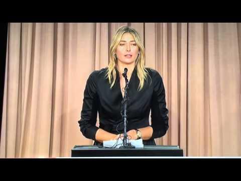 Maria Sharapova Drug Test Fail Press Conference 7th March 2016