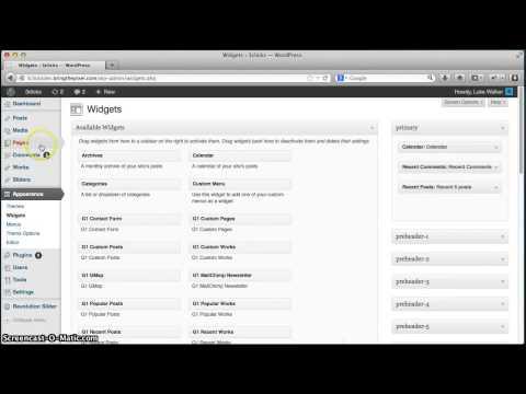 Add A Custom Sidebar To A Sample Page