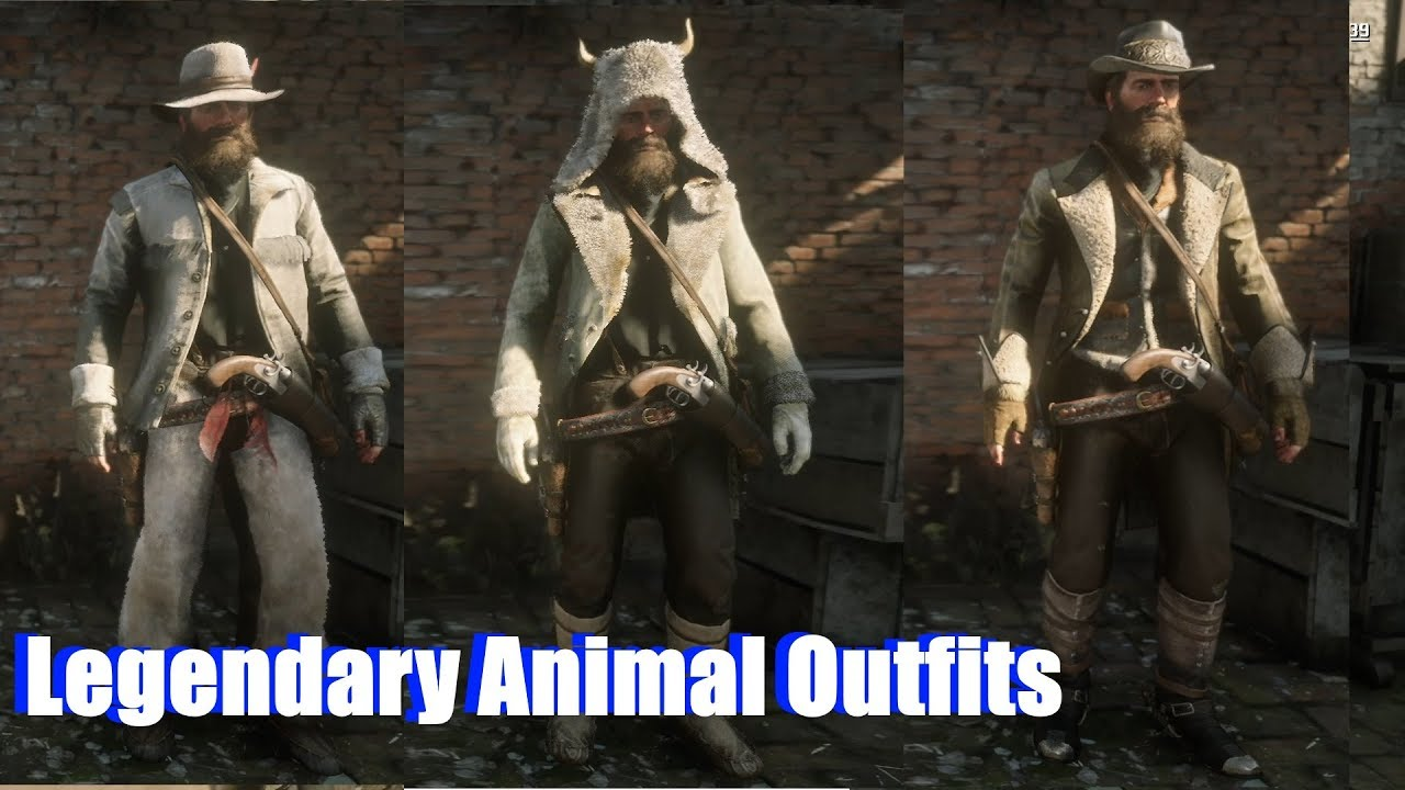 Red Dead Redemption 2 All Legendary Animal Outfits Trapper