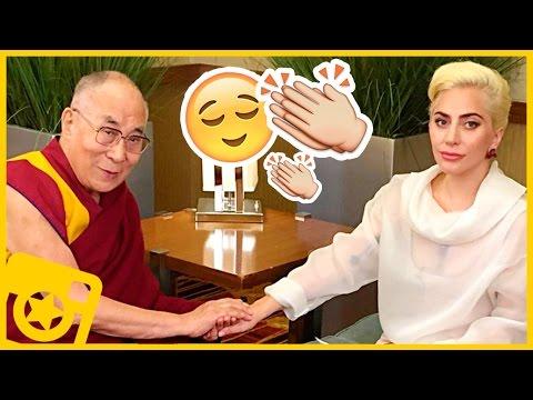 Lady Gaga a los pies del Dalai Lama | CELEBSTAGRAM