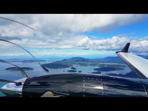 Flying Washington, San Juan Islands.