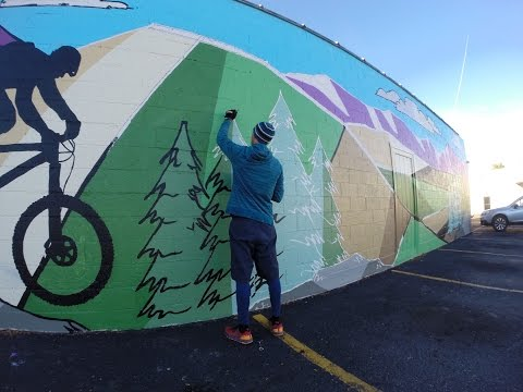 Joyride Bikes Mural Painting Time-Lapse in Logan Utah