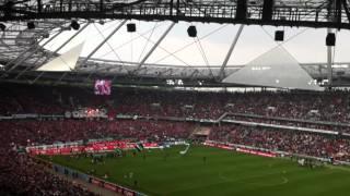 Hannover - Nürnberg 34. Spieltag Pyro Danke