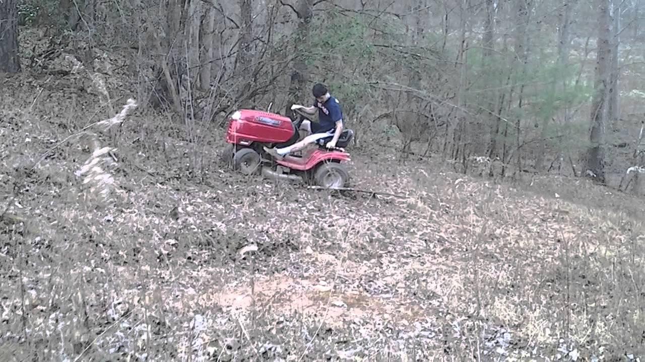 Lawn Mower On A Hill : Lawn mower hill climb youtube