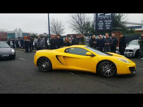 The Police Shut This Meet Down!!! Cars And Coffee Trafford Park (2 Supras, R34 GTR, NSX, 4 Huracans)