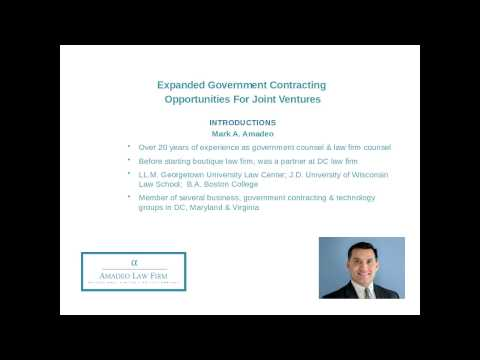 GovCon Webinars: Expanded Government Contracting Opportunities For Joint Ventures