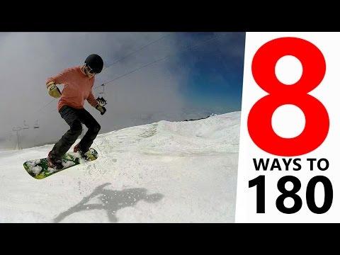 8 Ways To Spin 180 - Snowboarding Tricks