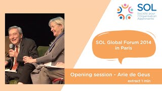 SOL France - Arie de Geus - Opening session extract 1 min