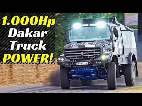 Nothing Can Stop The 1.000Hp Kamaz Dakar Truck At Goodwood Festival Of Speed! 10-tonne 4x4 Monster!