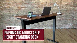 Luxor Pneumatic Adjustable Height Standing Desk - Black