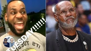 AD joins LeBron for Taco Tuesday, NBA players test out old age filter   Jalen & Jacoby