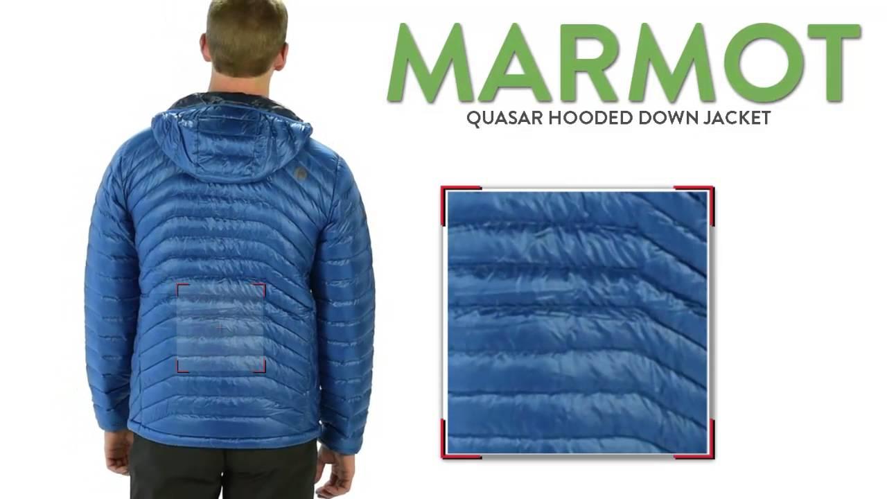 Marmot Quasar Hooded Down Jacket - 900 Fill Power (For Men) - YouTube 94ecd0e36c35