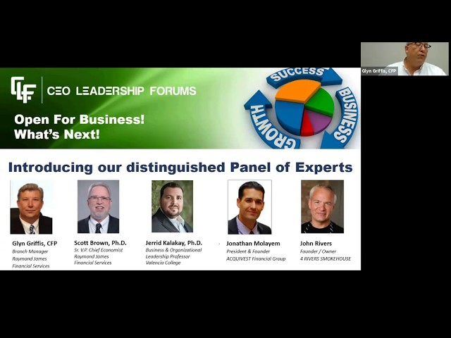 CEO Leadership Forums May 7, 2020 Video Conference -