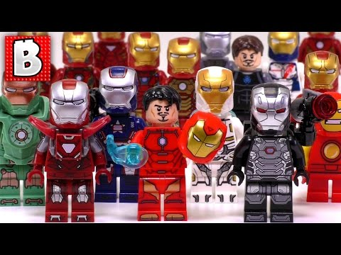 Every Lego Iron Man Minifigure Ever Made!!! 2017   Silver Centurion!  Collection
