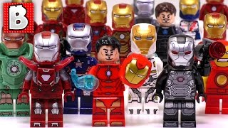 Every Lego Iron Man Minifigure Ever Made!!! 2017 +  Silver Centurion! | Collection Review