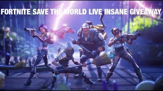 FORTNITE SAVE THE WORLD LIVE GRAB AND GO GIVEAWAY WITH ITZ SLOW!!!! #iRNG #iRunNGun