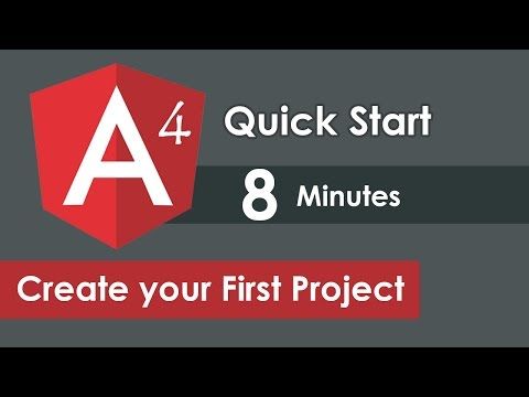 Angular 4 QuickStart - Angular 4 Install and Create your First Angular Project