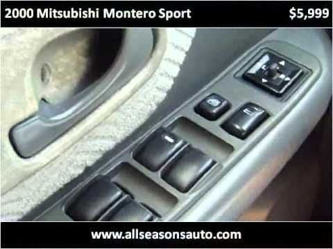 2000 Mitsubishi Montero Sport Used Cars Largo FL