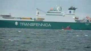 Pilot leaving cargo ship