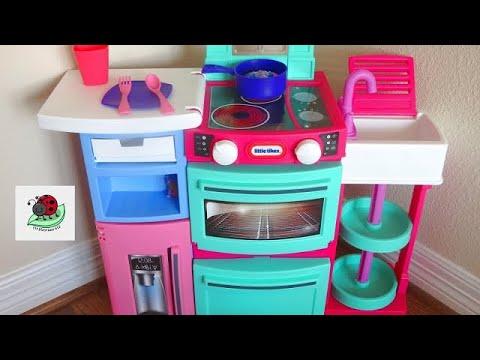 TOY KITCHEN | Little Tikes Play Kitchen for Kids | Surprise Eggs Toys |  itsplaytime612