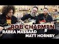 Rob Chapman with Rabea Massaad & Matt Hornby at Norman's Rare Guitars