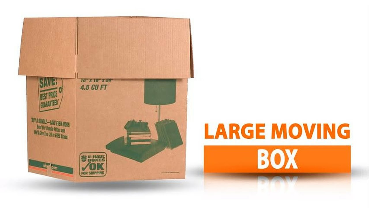 U-Haul Large Moving Box - YouTube