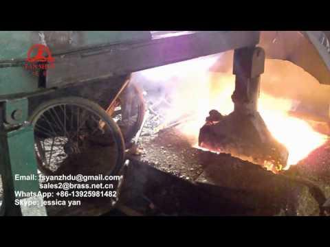 Fanshun Brass rod production line machine, melting furnace,holding furnace,casting machine
