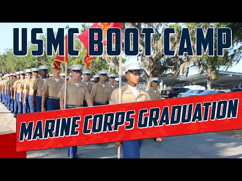 Marine Corps Boot Camp Graduation - Hotel Company Retires The Guidons - Grad Date 03/02/2018