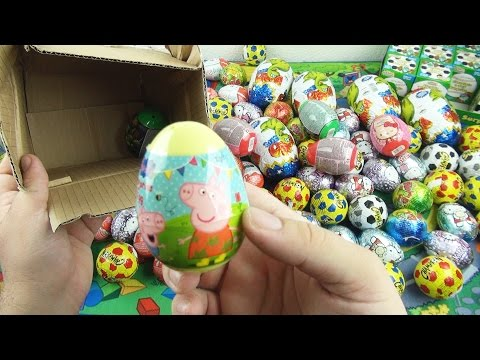 100 Surprise Eggs,Peppa Pig, Mickey Mouse, Kinder Surprise , Lion King, Toys Story, Киндер сюрприз