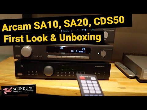 Arcam SA10, SA20, CDS50 First Look & Unboxing