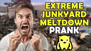 Extreme Junkyard Meltdown Prank - Ownage Pranks