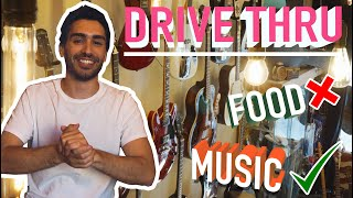 We made a DRIVE THRU service for our little music shop