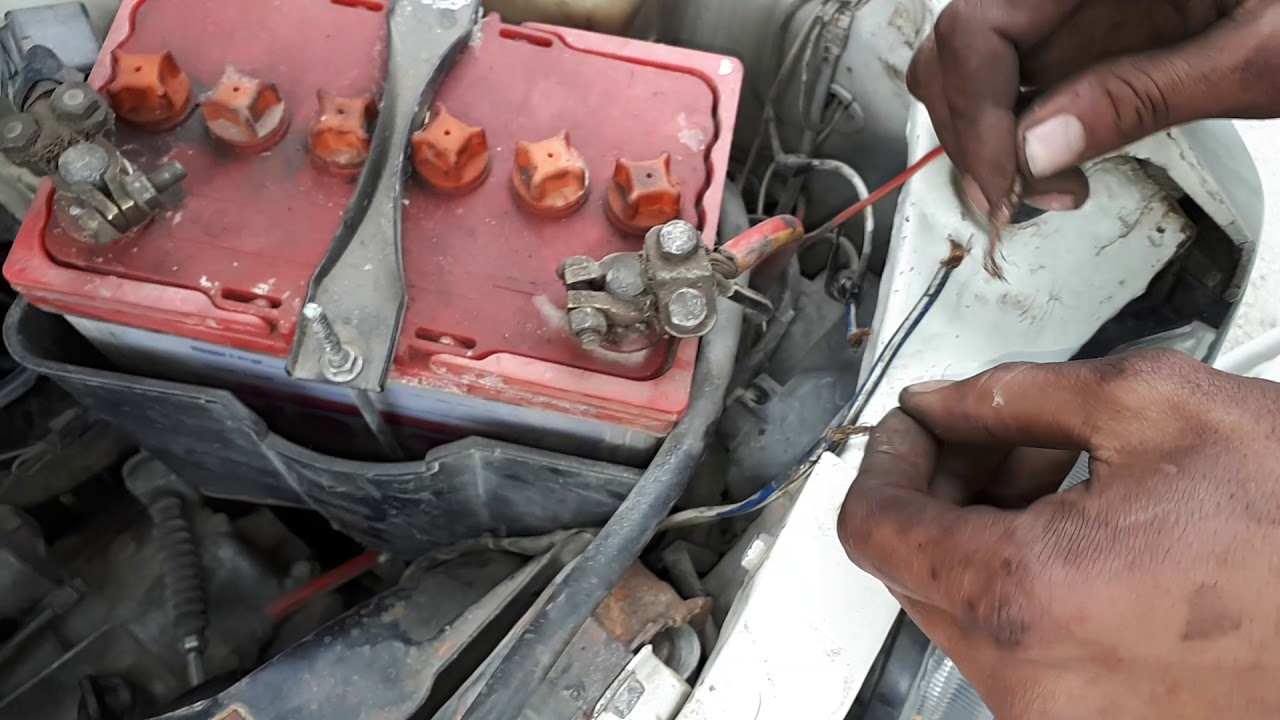 how to engine cooling fan current problem suzuki mehran car urdu in hindi [ 1280 x 720 Pixel ]