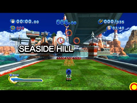 Sonic Generations (PC): All Seaside Hill Modern Challenge Acts (S-Ranks)