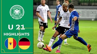 Rep. Moldau - Deutschland 0:5 | Highlights | U 21 EM-Qualifikation