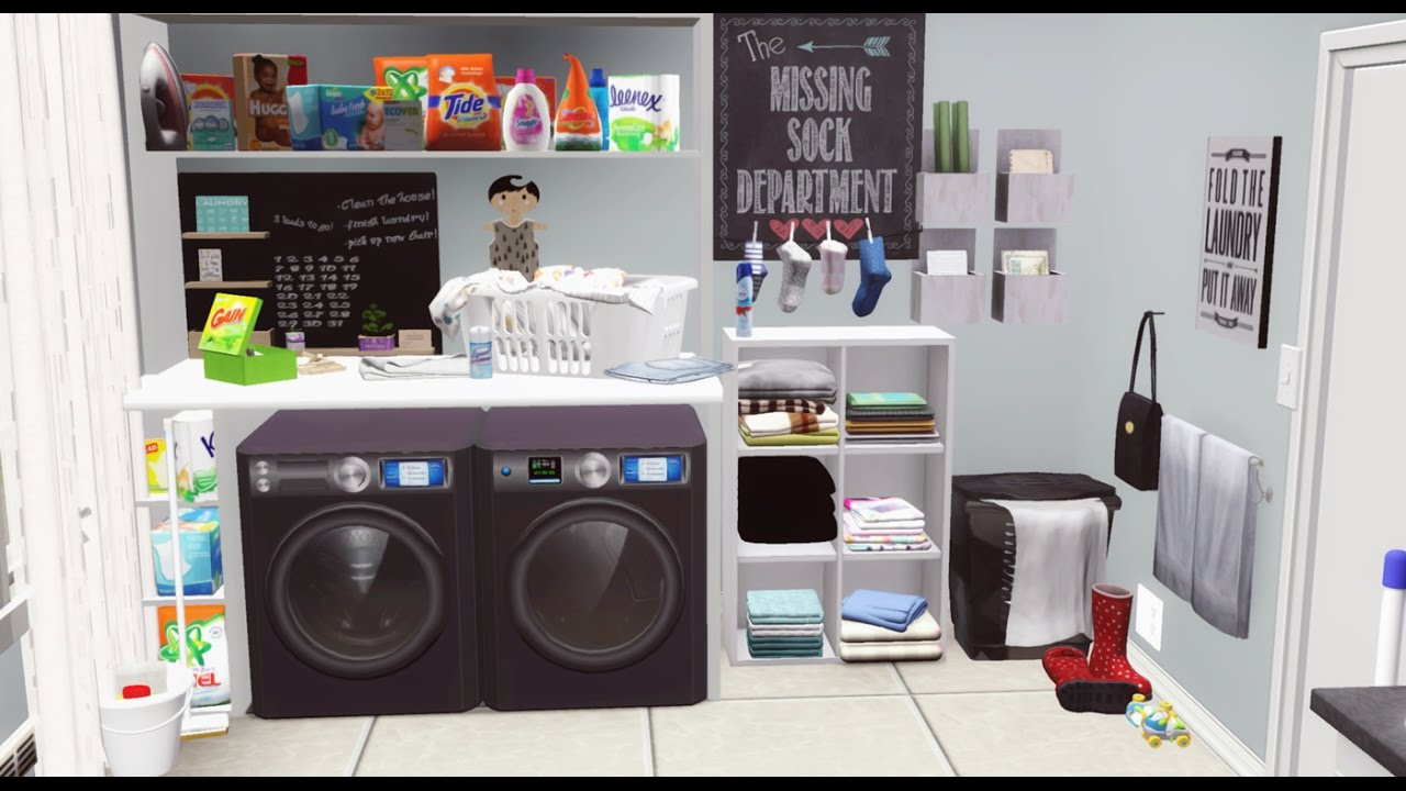 The anthony 39 s new home pt 1 laundry room sims 3 for How to add a laundry room to your house