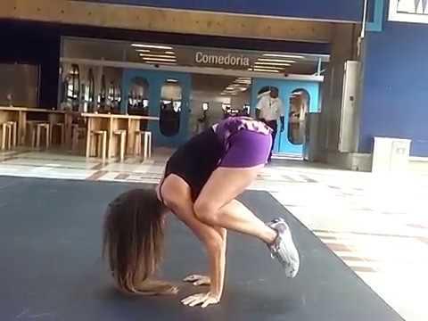 dance  balance crane pose twisting splits  how to