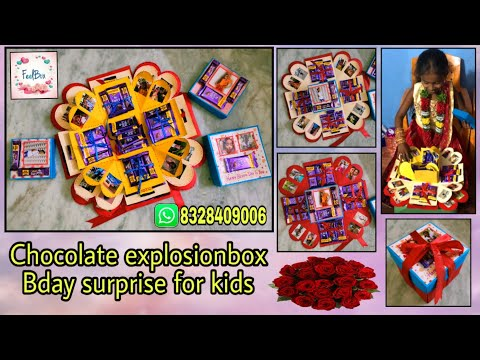 Chocolate explosionbox | bday surprise for kids | handmade gifts | gift making ideas by FeelBox