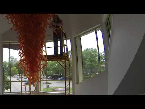 Beach Museum of Art | Cleaning Chandelier, 1996 - A sculpture by Dale Chihuly