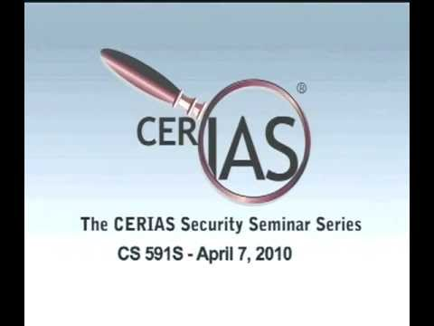 2010-04-07 CERIAS - 60 years of scientific research in cryptography:  a reflection