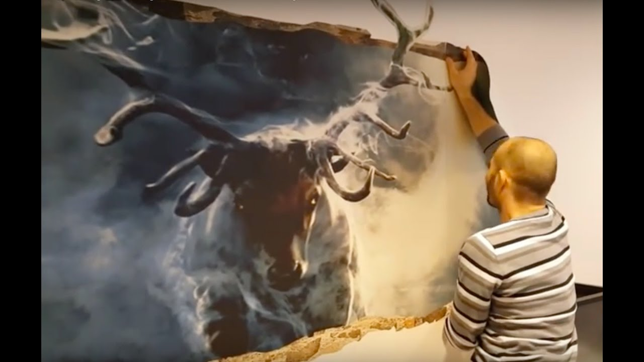 Mind Blowing 3D Wall Art Illusion - YouTube